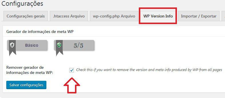 Remover Informações me do WordPress