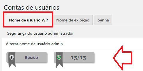 contas de usuário All in One WP Security