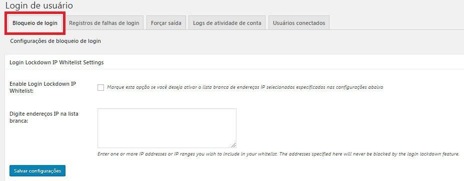 segurança - bloqueio de usuário ao site