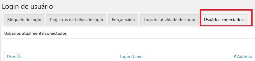 login de usuário